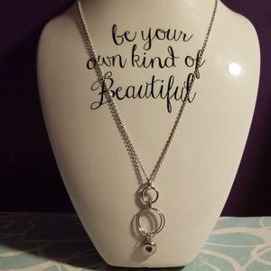 Magnolia and Vine mini snap necklace